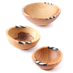 Small Batik Inlay Bowls, Set of 3