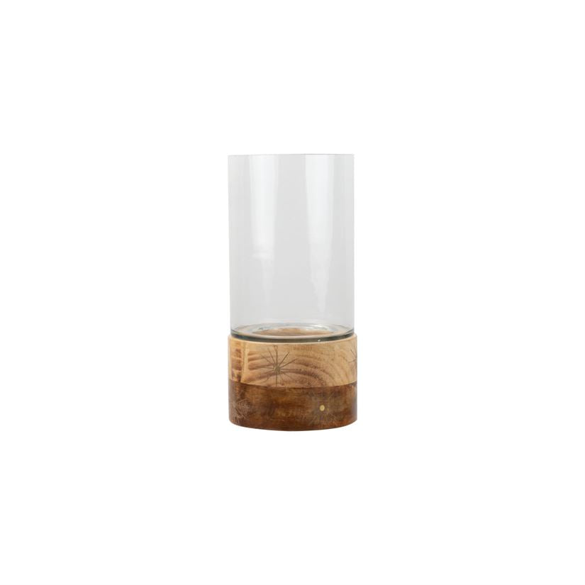 Modern Inlay Hurricane Vase, Tall