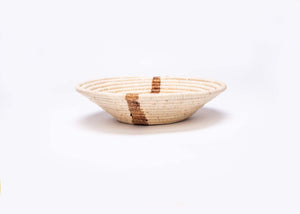 "12"" Large Banana Bark Striped Round Basket"