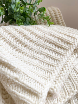 The Cable Knit Throw