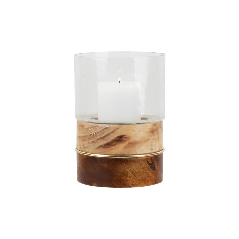 Modern Inlay Hurricane Vase, Short