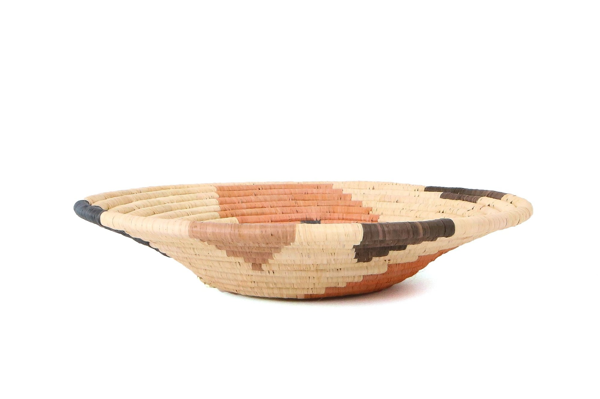 "12"" Large Peach Sukari Round Basket"