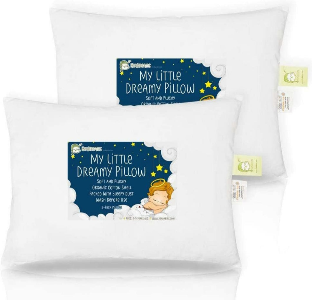 2 Pack organic toddler pillows