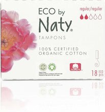 Load image into Gallery viewer, 18 pieces Organic Tampons- Regular