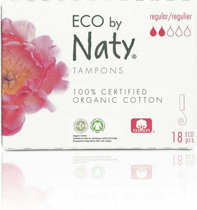18 pieces Organic Tampons- Regular