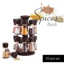 Load image into Gallery viewer, 0103 Revolving Plastic Spice Rack  (16 Pcs) - DeoDap