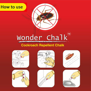 1315 Cockroaches Repellent Chalk Keep Cockroach Away (Pack of 12) - DeoDap