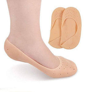 1207 Anti Crack Full Length Silicone Foot Protector Socks/Pads for Foot-Care and Heel Cracks - DeoDap