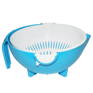 1093 Multi-Functional Washing Fruits and Vegetables Bowl & Strainer with Handle - DeoDap