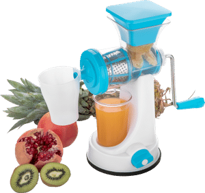0168 Manual Fruit Vegetable Juicer with Juice Cup and Waste Collector - DeoDap