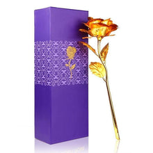 Load image into Gallery viewer, 0879 24K Artificial Golden Rose/Gold Red Rose with Gift Box (10 inches) - DeoDap