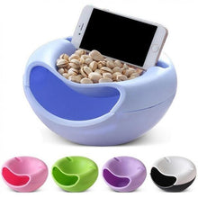 Load image into Gallery viewer, 0250 Pista Nut Fruit Platter Serving Bowl With Mobile Phone Holder by HomeFast - DeoDap