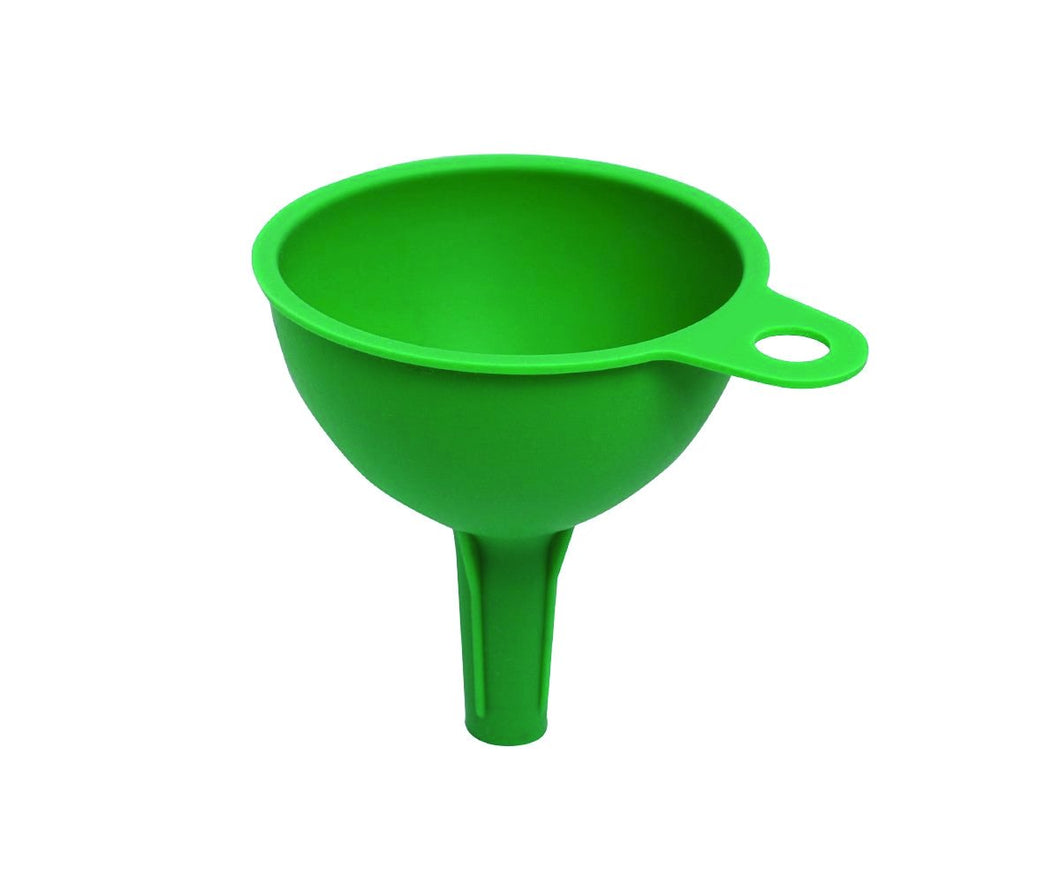 0722 Silicone Funnel For Pouring Oil, Sauce, Water, Juice And Small Food-Grains - DeoDap