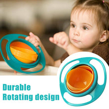 Load image into Gallery viewer, 0617 Portable Non Spill Feeding Toddler Gyro Bowl 360 Degree Rotating Dish - DeoDap