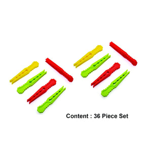 0335 Multipurpose Plastic Cloth Hanging Pegs/Clips - 36 pcs - DeoDap