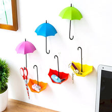 Load image into Gallery viewer, 0486_3pcs/set Cute Umbrella Wall Mount Key Holder Wall Hook Hanger Organizer Durable Wall hooks bathroom kitchen Umbrella Wall Hook