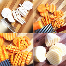 Load image into Gallery viewer, 2007_Crinkle Cut Knife Potato Chip Cutter With Wavy Blade French Fry Cutter - DeoDap