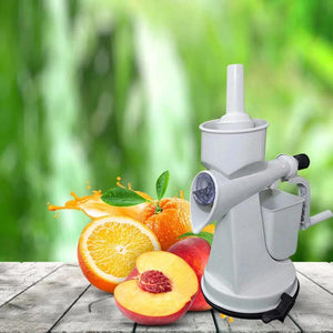 0142 Plastic Manual Citrus Juicer with Waste collector & Vaccum locking system