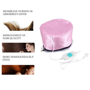 0352 Thermal Head Spa Cap Treatment with Beauty Steamer Nourishing Heating Cap - DeoDap