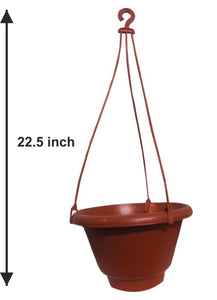 0840 Hanging Flower Pot with Rope - DeoDap