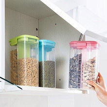 Load image into Gallery viewer, 2147 Plastic 2 Sections Air Tight Transparent Food Grain Cereal Storage Container (2 ltr) - DeoDap