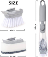 Load image into Gallery viewer, 1271 Automatic Liquid Dispenser Dish Clean Brush Scrubber - DeoDap