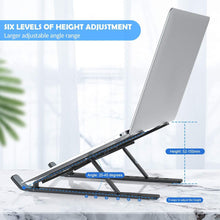 Load image into Gallery viewer, 1320 Adjustable Laptop Stand Holder with Built-in Foldable Legs and High Quality Fibre - DeoDap