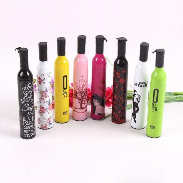 0518 Pocket Folding Wine Bottle Umbrella - DeoDap