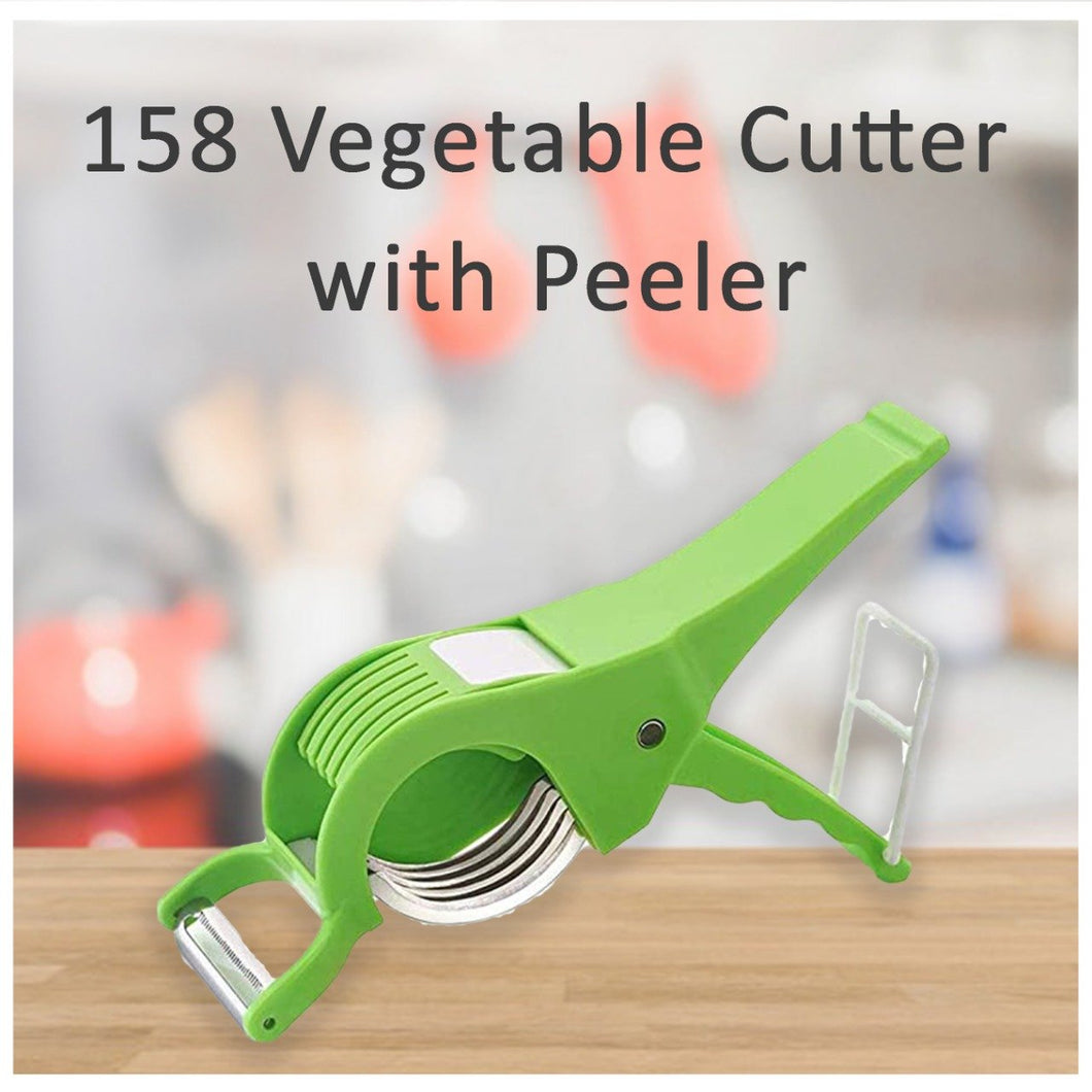 0158 Vegetable Cutter with Peeler - DeoDap