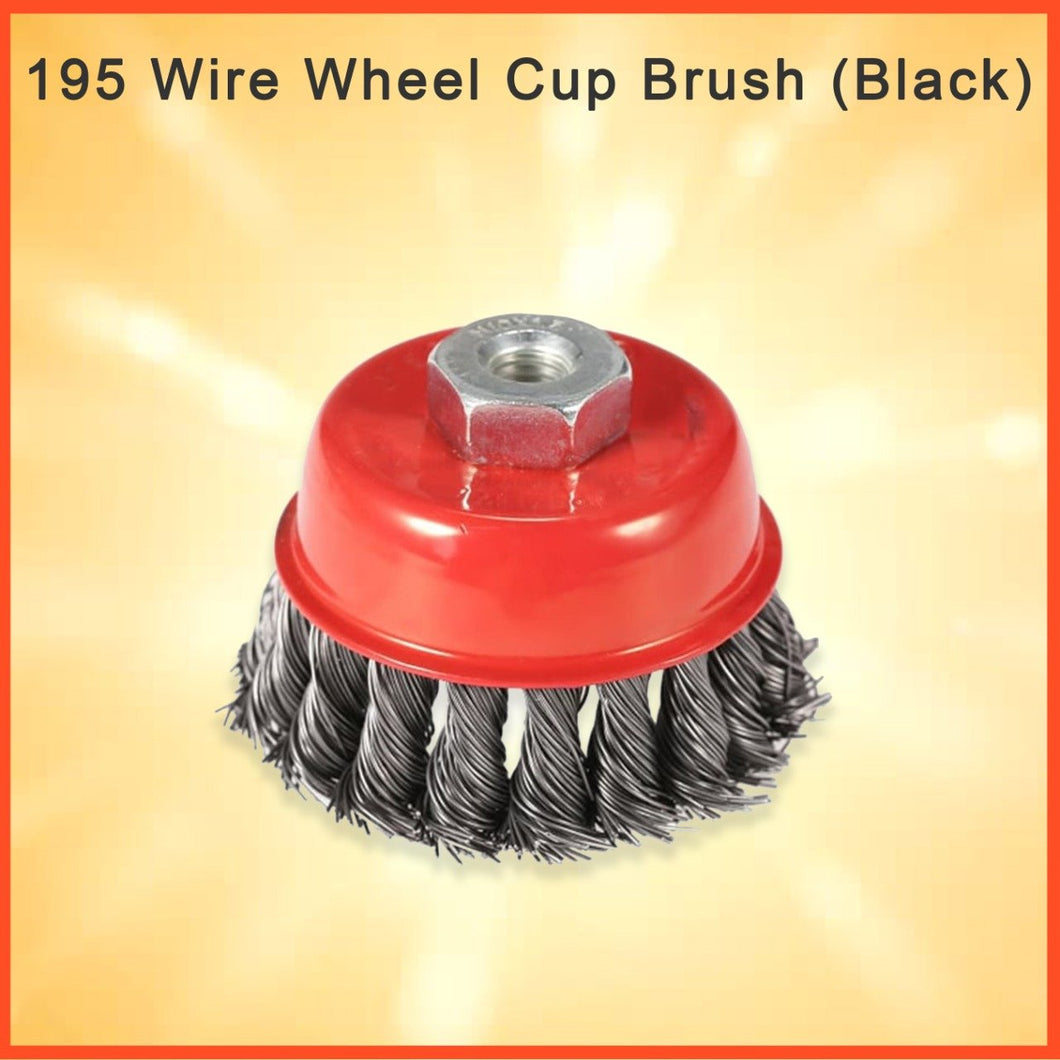 0195 Wire Wheel Cup Brush (Black) - DeoDap