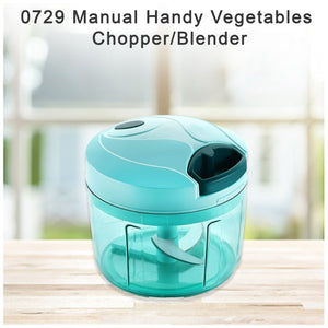 0729 Manual Handy Vegetables Chopper/Blender- 725 ml - DeoDap