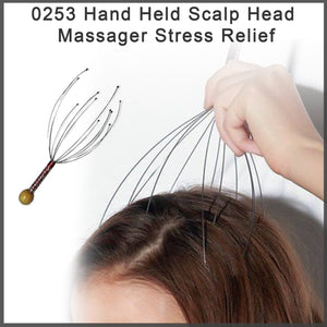0253 Hand Held Scalp Head Massager Stress Relief - DeoDap