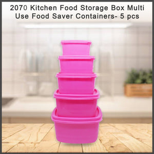 2070 Kitchen Food Storage Box Multi-Use Food Saver Containers- 5 pcs - DeoDap