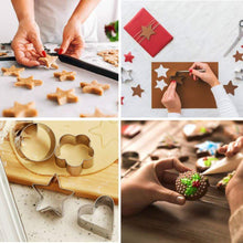 Load image into Gallery viewer, 0827 Cookie Cutter Stainless Steel Cookie Cutter with Shape Heart Round Star and Flower (4 Pieces) - DeoDap