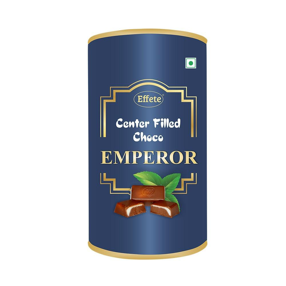1007 Effete Emperor Center Filled Choco (32 Units, 245 gm) (Blue) - DeoDap