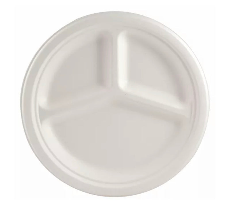 "ASS. 3 COMP. 10"" BAGASSE (500)"