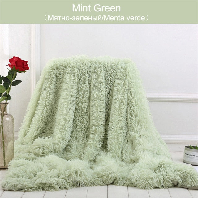 Shaggy Throw Blanket Soft Long Plush Bed Cover Blanket Fluffy Faux Fur Bedspread Blankets for Beds Couch Sofa from united state - Stylish boutiques