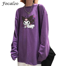 Load image into Gallery viewer, Purple Women T-shirt Long Sleeve O-Neck - Stylish boutiques