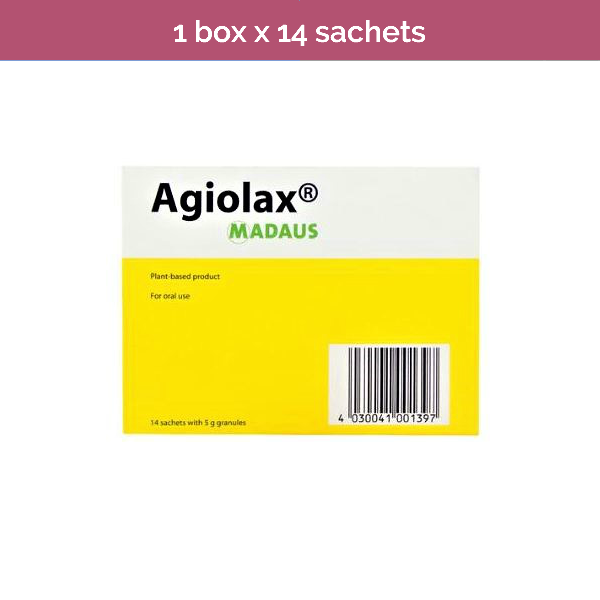 AGIOLAX plant-based granules relieve constipation and promotes regular bowel