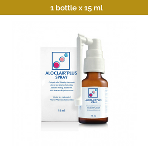Aloclair Plus Mouth Ulcer Spray Fast Pain Relief and Healing 15ml