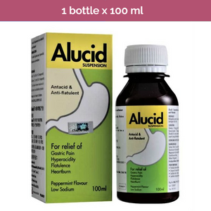 ALUCID Suspension for relief of gastric pain, hyperacidity, flatulence, heartburn