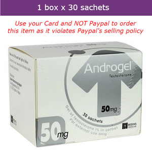 ANDROGEL to boost testosterone, libido & muscle mass 30 sachets x 50mg
