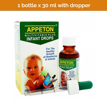 Load image into Gallery viewer, APPETON Multivitamin Plus Infant Drops Supplement (with dropper)