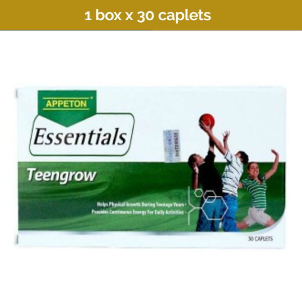 30s APPETON Essentials Teengrow - 18 Essential vitamins & minerals for teenagers