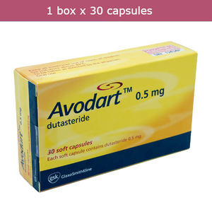 AVODART 0.5 mg Dutasteride for treatment of benign prostatic hyperplasia (BHP)