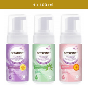 100ml BETADINE Daily Feminine Hygiene Wash Foam for daily use