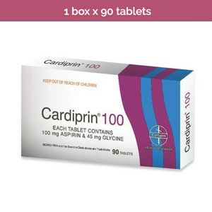 Cardiprin 100 (aspirin 100mg) for preventing strokes and heart attacks 90s