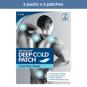 2x MENTHOLATUM DEEP COLD Patches for arthritis and overworked muscles