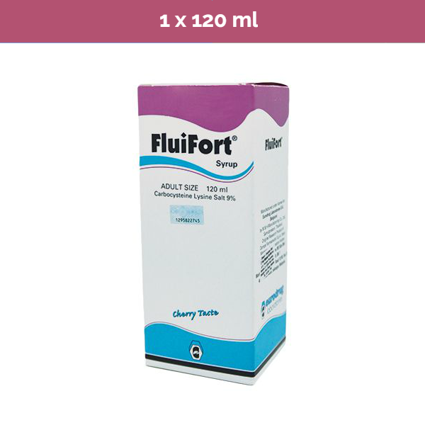 Fluifort Syrup acute & chronic resp tract disease accompanied by excessive mucus