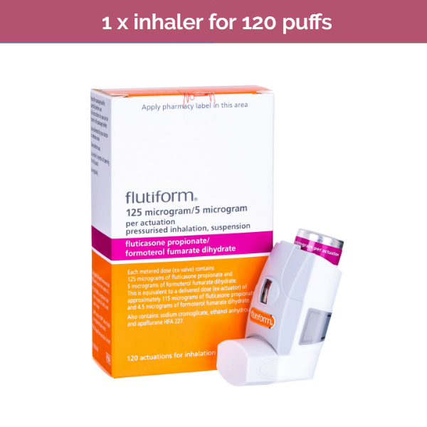 Flutiform Inhaler 125 to help with asthma in people who need regular treatment